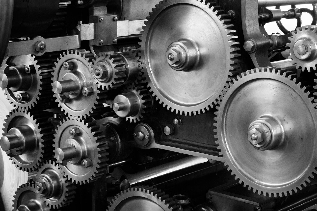 gears, cogs, machine